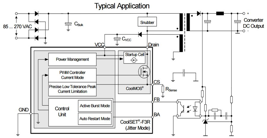 DataSheet ICE3BR1765J - Off-Line SMPS Current Mode Controller with integrated 650V CoolMOS