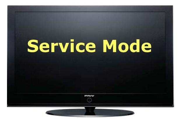 вход в сервисный режим телевизоров